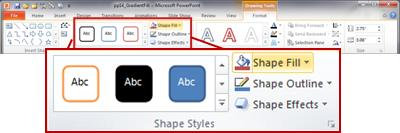 the format tab in the powerpoint 2010 ribbon.