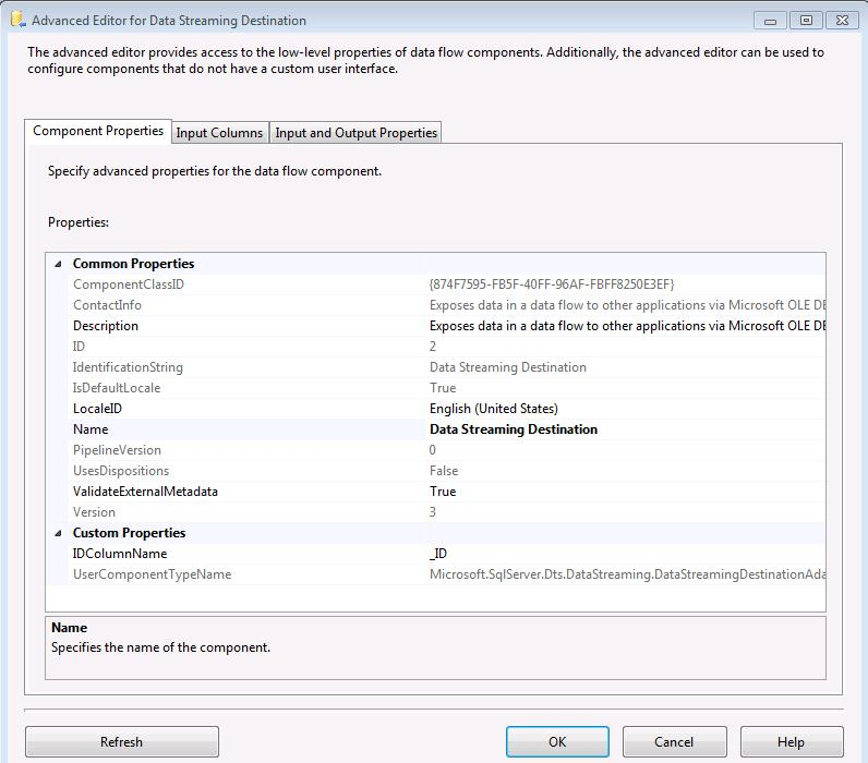 SSIS Package - IDColumnName Property