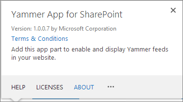 Yammer apps for SharePoint