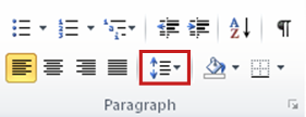 Line Spacing on the Home tab