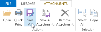 Save as attachments