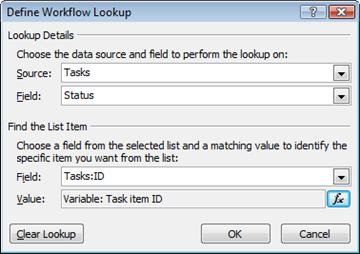 A sample lookup