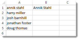 List of names in lower case