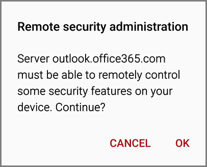Remote security administration