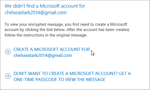 Create a Microsoft account