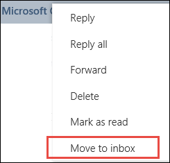 Move to Inbox