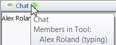 Chat awareness pop-up window
