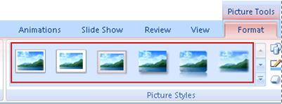 Picture styles on Format tab