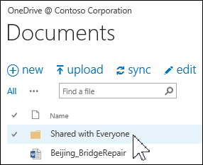 Shared with Everyone folder in OneDrive for Business