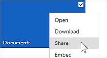 Share a document