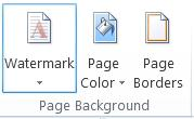 Add a watermark button in Word 2013.