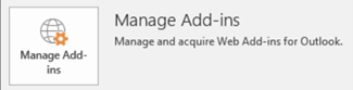 Click Manage Add-ins