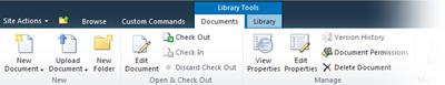 Documents tab on the ribbon