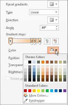 Change the color of each gradient stop