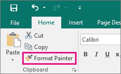 Shows the Format Painter button in Publisher