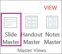 Open Slide Master View