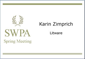 name tag for one meeting attendee