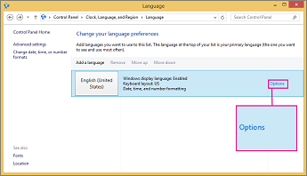Office 2016 Windows 8 Input Method Options