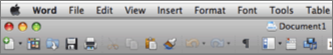 Main UI for Word for Mac 2011