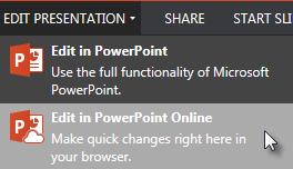 Open in PowerPoint Online