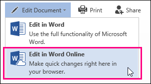 Image of Edit in Word Online command