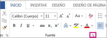 Selector de cuadro de diálogo de tipo de letra