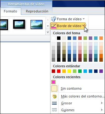 Cambiar el color de un vídeo