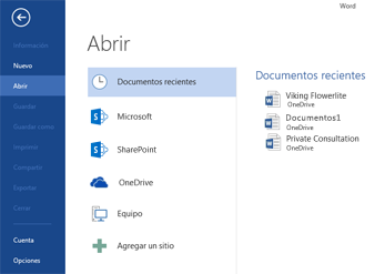 Uso de Guardar como en Word 2013