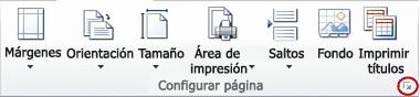 Imagen de la cinta de opciones de Excel