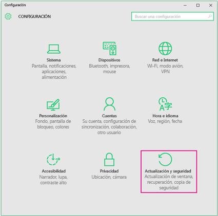 Configurar las actualizaciones de Windows en Windows 10