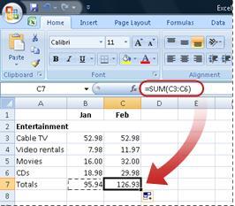 Ejemplo de cómo la fórmula copiada se aplica inmediatamente a la nueva columna