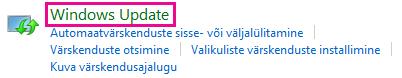 Windows 8 juhtpaneeli link Windows Update