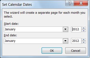 Modifier le mois dans un calendrier de Publisher