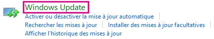 Lien Windows Update de Windows8 dans le Panneau de configuration