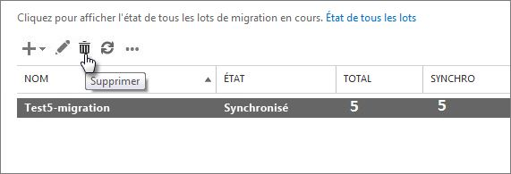 Supprimer un lot de migration - Office de migration internationale ...