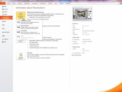 Compresser des fichiers multimédias