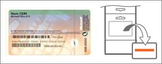 Certificat d'authenticité et carte