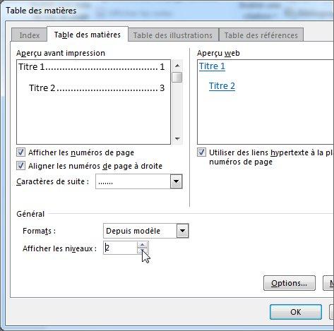 Mettre en forme ou personnaliser une table des mati res - Table des caracteres windows ...
