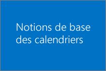 Notions de base des calendriers