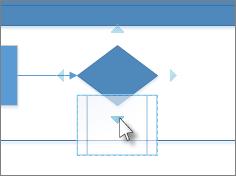 Déposer la forme sur une flèche de connexion automatique