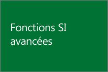 Fonctions SI avancées