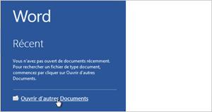 Ouvrir les autres documents