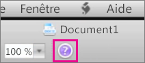 Cliquez sur le point d'interrogation pour ouvrir l'aide de Mac Office