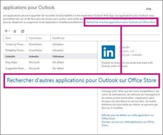 Trouver plus d'applications sur Office Store