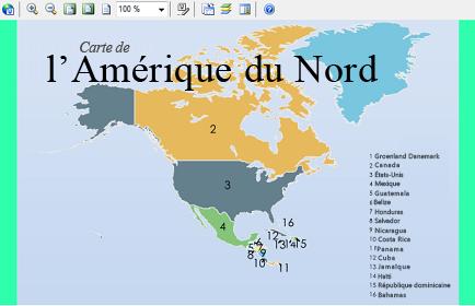Diagramme Visio incorporé de l'Amérique du Nord