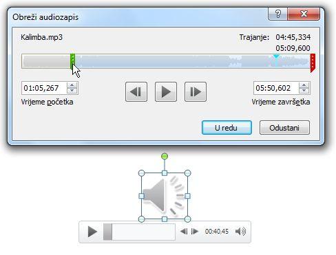 Obrezivanje audiozapisa