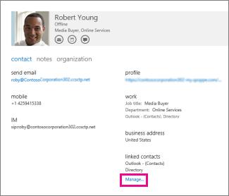 upravljanje profilima za kontakt
