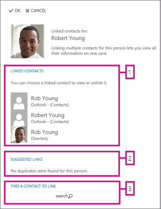 stranica s povezanim kontaktima