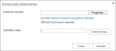 Prijenos u programu Windows Explorer