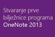 Stvaranje prve bilježnice programa OneNote 2013